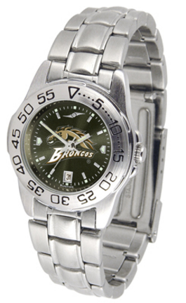 Western Michigan Broncos Sport AnoChrome Ladies Watch with Steel Band