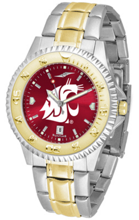 Washington State Cougars Competitor AnoChrome Two Tone Men's Watch