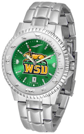 Wright State Raiders Competitor AnoChrome Men's Watch with Steel Band