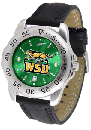 Wright State Raiders Sport AnoChrome Men's Watch with Leather Band