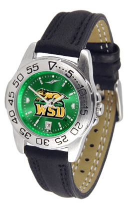 Wright State Raiders Sport AnoChrome Ladies Watch with Leather Band
