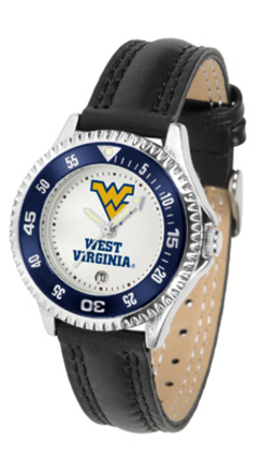 West Virginia Mountaineers Competitor Ladies Watch with Leather Band