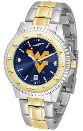 West Virginia Mountaineers Competitor AnoChrome Two Tone Men's Watch