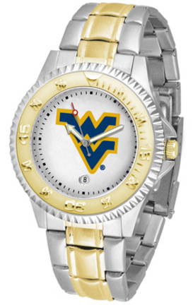 West Virginia Mountaineers Competitor Two Tone Men's Watch