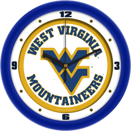 West Virginia Mountaineers Traditional 12 inch Wall Clock