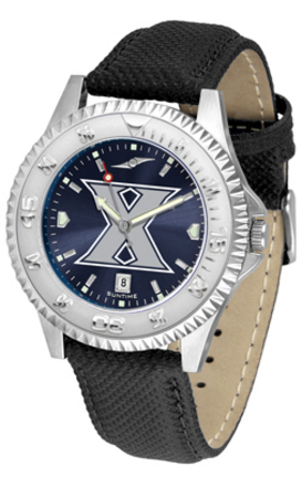 Xavier Musketeers Competitor AnoChrome Men's Watch with Nylon/Leather Band