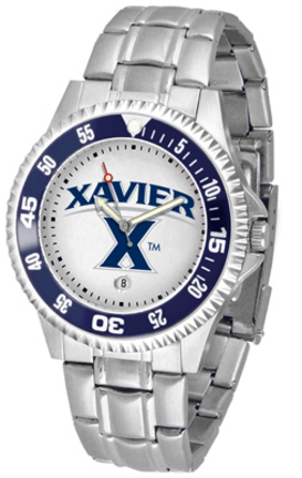 Xavier Musketeers Competitor Men's Watch with a Metal Band
