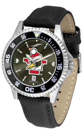 Youngstown State Penguins Competitor AnoChrome Men's Watch with Nylon/Leather Band and Colored Bezel