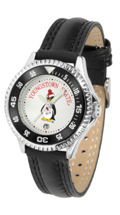 Youngstown State Penguins Competitor Ladies Watch with Leather Band