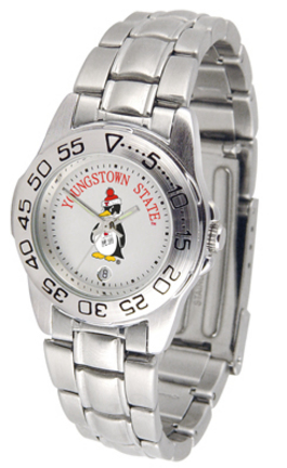 Youngstown State Penguins Ladies Sport Watch with Stainless Steel Band