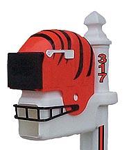 Cincinnati Bengals Helmet Style Mailbox