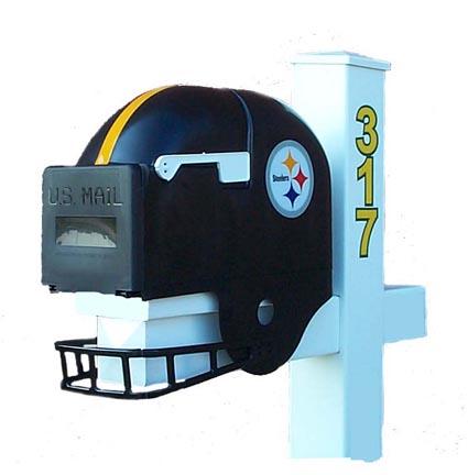 Pittsburgh Steelers Helmet Style Mailbox