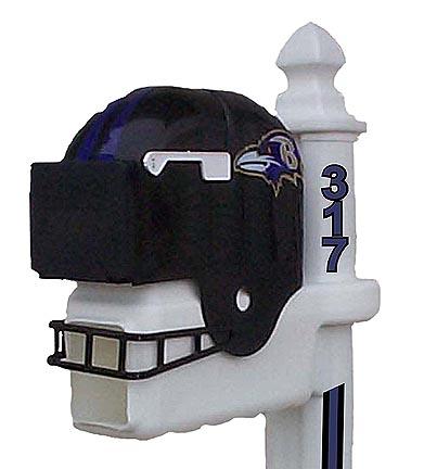 Baltimore Ravens Helmet Style Mailbox