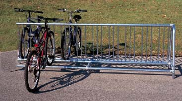 10′ Long Add On Inground Traditional Double Sided Bike Rack – Powder Coated Frame
