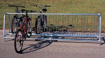 5' Long Surface Mounted Traditional Double Sided Bike Rack - Powder Coated Frame