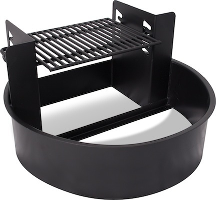 Handicap Accessible Height Adjustable Fire Ring and Grill (300 Square Cooking Inches)
