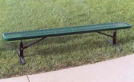 "6' Portable Park Bench without Back and 2"" x 12"" x 6' Vinyl Clad Expanded Steel Planks"