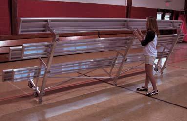9' Tip N' Roll Galvanized Indoor/Outdoor 2 Row Bleachers