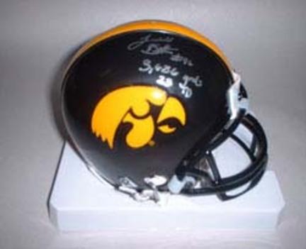 Ladell Betts Autographed Iowa Hawkeyes Riddell Mini Helmet with Statistics Inscription