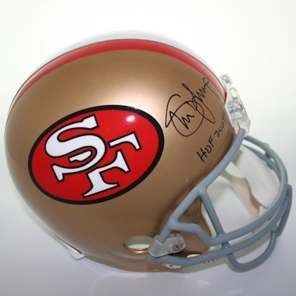 "Steve Young Autographed San Francisco 49ers Riddell Throwback Full Size Replica Helmet with ""HOF 2005"" Inscrip"