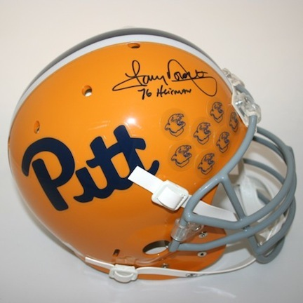 "Tony Dorsett Autographed Pittsburgh Panthers Schutt Full Size Authentic Helmet with ""76 Heisman"" Inscription"