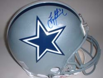 Troy Aikman Autographed Dallas Cowboys Riddell Full Size Authentic Helmet