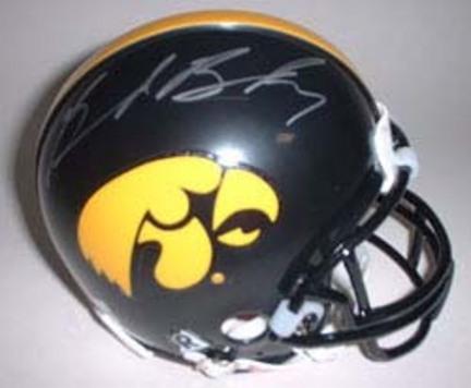 Brad Banks Autographed Iowa Hawkeyes Riddell Mini Helmet