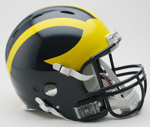 Michigan Wolverines NCAA Revolution Authentic Pro Line Full Size Football Helmet from Riddell VC-3000958