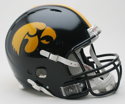 Iowa Hawkeyes NCAA Revolution Authentic Pro Line Full Size Football Helmet from Riddell VC-3000962