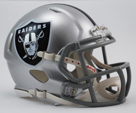 Riddell NFL Oakland Raiders Mini Helmet Men's