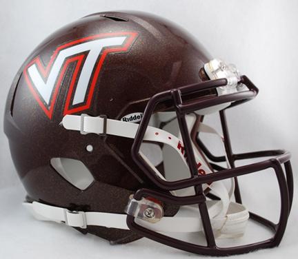 Virginia Tech Hokies NCAA Authentic Speed Revolution Full Size Football Helmet from Riddell