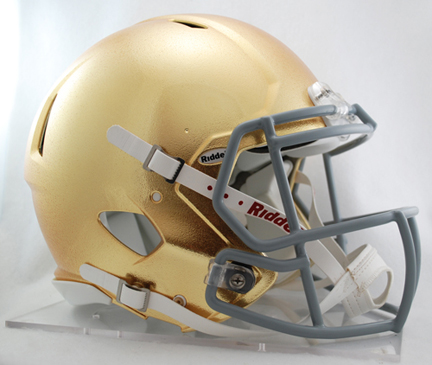 Notre Dame Fighting Irish NCAA Authentic Speed Revolution Full Size Football Helmet from Riddell (Special Gold Finish)