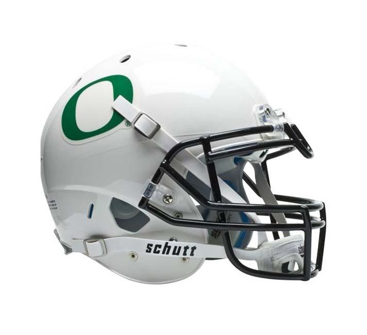 Schutt NCAA Oregon Ducks ALTERNATE WHITE Full Size AiR XP Authentic Football Helmet