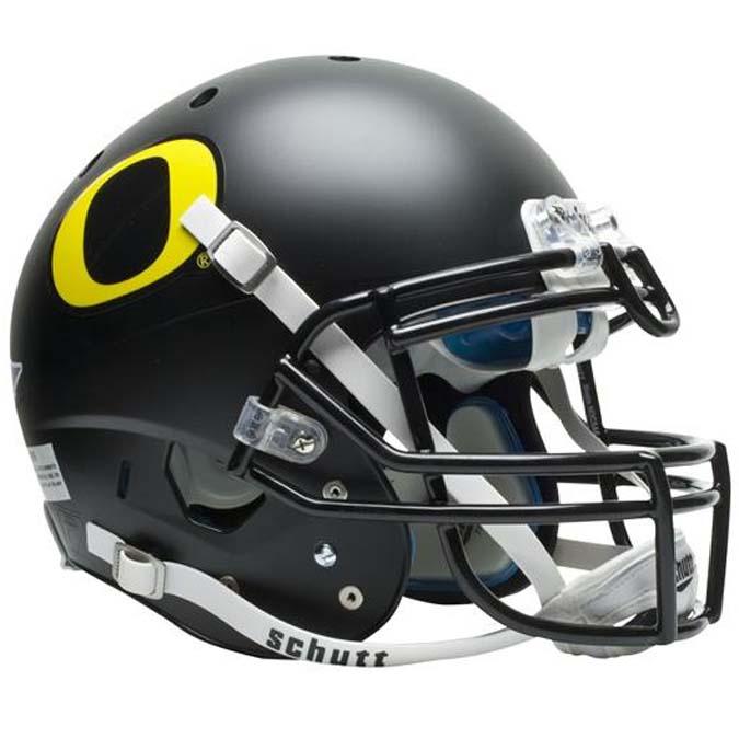 Schutt NCAA Oregon Ducks ALTERNATE BLACK Full Size AiR XP Authentic Football Helmet VC-7050-050-3