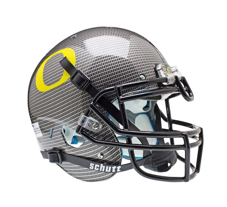 Schutt NCAA Oregon Ducks ALTERNATE CARBON FIBER Full Size AiR XP Authentic Football Helmet