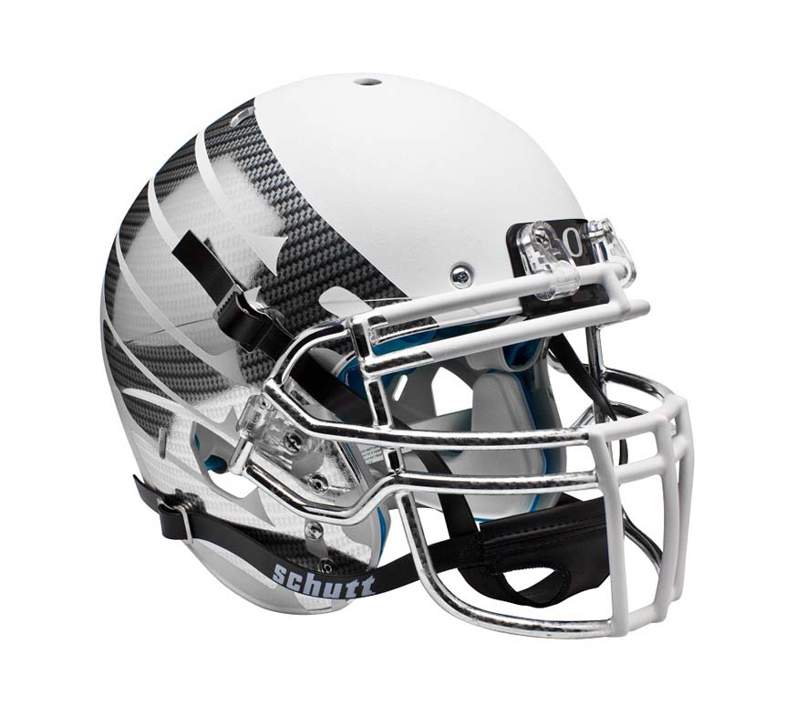 Schutt NCAA Oregon Ducks ALTERNATE WHITE LIQUID METAL with Wings Full Size AiR XP Authentic Football Helmet