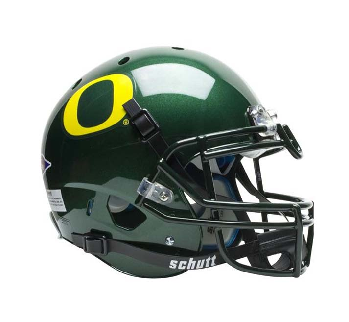 Schutt NCAA Oregon Ducks GREEN Full Size AiR XP Authentic Football Helmet