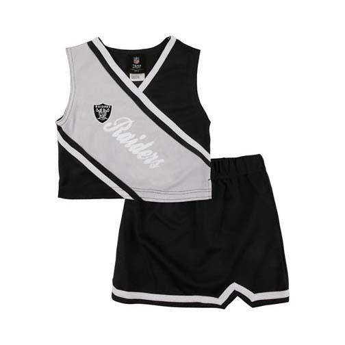 Reebok Two Piece Oakland Raiders NFL Cheerleader Uniform Set (Size 4 to 6X)