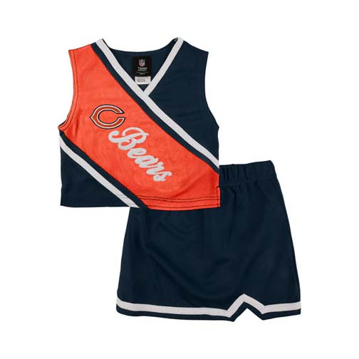 Reebok Two Piece Chicago Bears NFL Cheerleader Uniform Set (Size 2T to 4T)