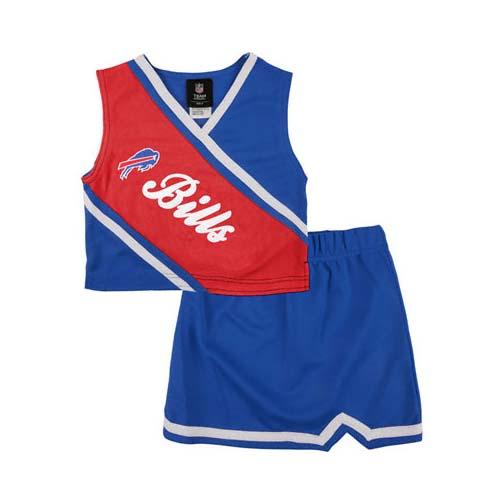 Reebok Two Piece Buffalo Bills NFL Cheerleader Uniform Set (Size 2T to 4T) VC-R-14LJ5-09-XX