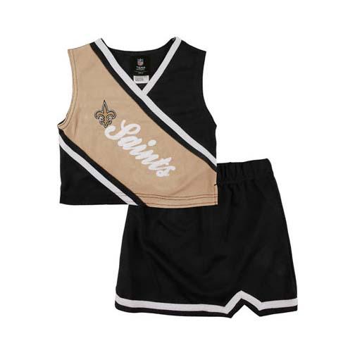 Reebok Two Piece New Orleans Saints NFL Cheerleader Uniform Set (Size 2T to 4T)