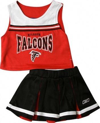 Reebok Two Piece Atlanta Falcons NFL Cheerleader Uniform Set (Size 4 to 6X)