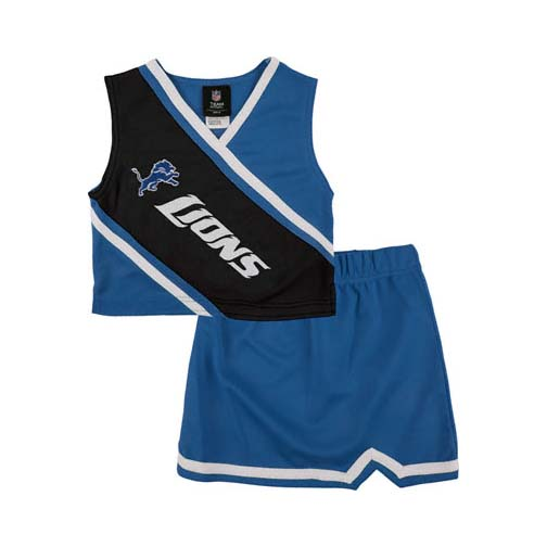 Reebok Two Piece Detroit Lions NFL Cheerleader Uniform Set (Size 4 to 6X)