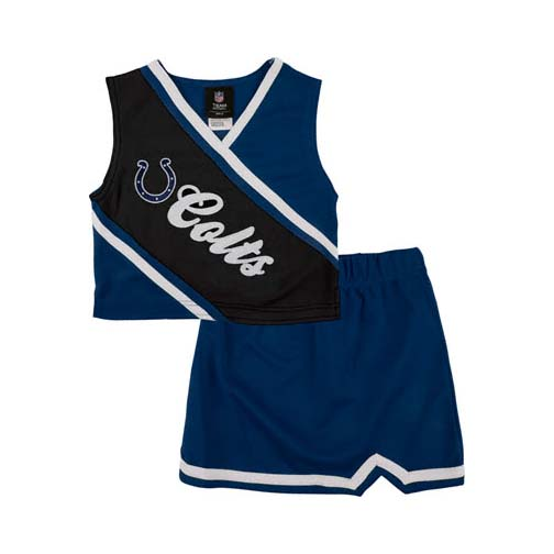 Reebok Two Piece Indianapolis Colts NFL Cheerleader Uniform Set (Size 7/8 to 16)