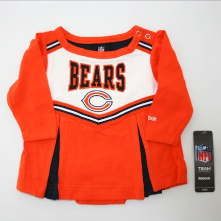 Reebok Chicago Bears NFL Infant Cheerleader Creeper Dress (Sizes 0 - 24 Months)