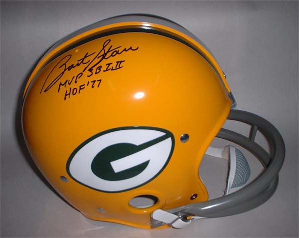 Bart Starr Autographed Football Bart Starr Autographed Green