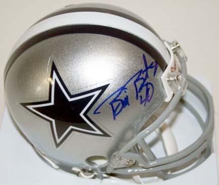 Bill Bates Autographed Dallas Cowboys Riddell Mini Helmet