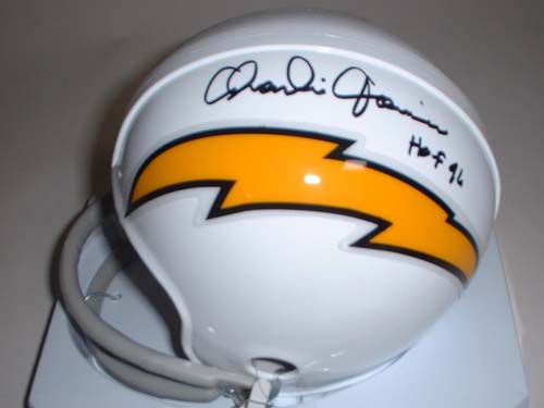 Charlie Joiner Autographed San Diego Chargers Riddell Throwback 1961 Mini Helmet with