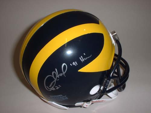 Desmond Howard Autographed Michigan Wolverines Riddell Mini Helmet with