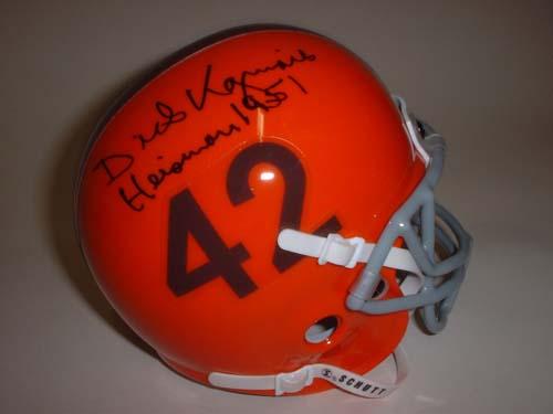4b5fceb2e87 Dick Kazmaier Autographed Princeton Tigers Schutt Mini Helmet with